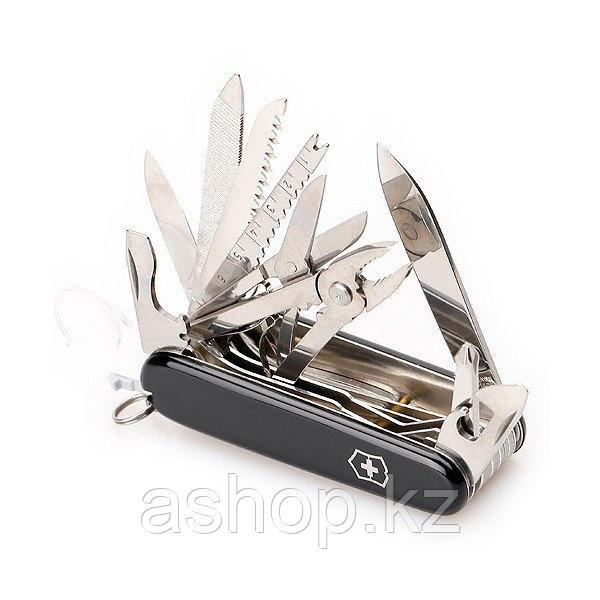 Нож складной универсальный Victorinox Swisschamp, Функционал: Универсальная, Кол-во функций: 33 в 1, Цвет: Чёр