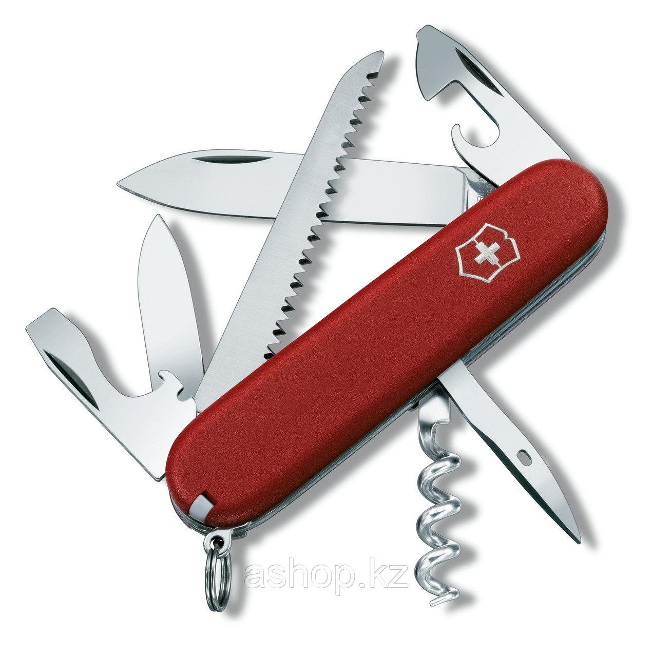 Нож складной туристический Victorinox EcoLine Camper, Функционал: Туризм, Кол-во функций: 13 в 1, Цвет: Красны