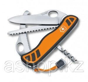 Нож складной солдатский Victorinox Hunter XT, Кол-во функций: 6 в 1, Цвет: Оранжево-чёрный, (0.8341.MC9)