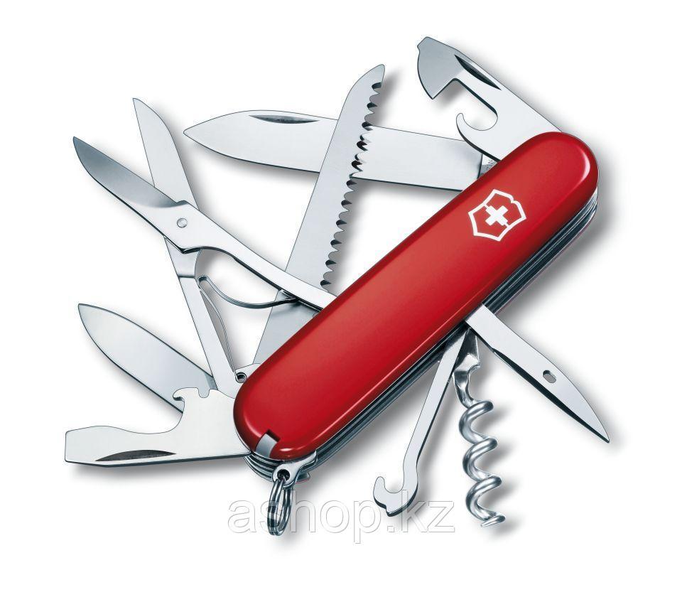 Нож складной армейский Victorinox Huntsman, Кол-во функций: 18 в 1, Цвет: Красный, (1.3713)