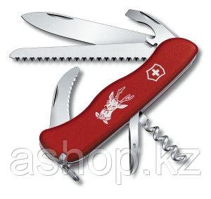 Нож складной солдатский Victorinox Hunter, Кол-во функций: 20 в 1, Цвет: Красный, (0.8873)