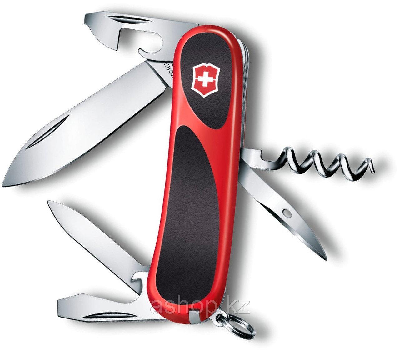Нож складной перочинный Victorinox EvoGrip 10, Кол-во функций: 13 в 1, Цвет: Красно-чёрный, (2.3803.C)