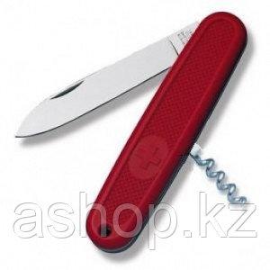 Нож складной солдатский Victorinox Solo, Кол-во функций: 2 в 1, Цвет: Красный, (0.8720)