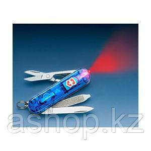 Нож складной карманный Victorinox Signature Sapphire, Функционал: Туризм, Кол-во функций: 7 в 1, Цвет: Синий (