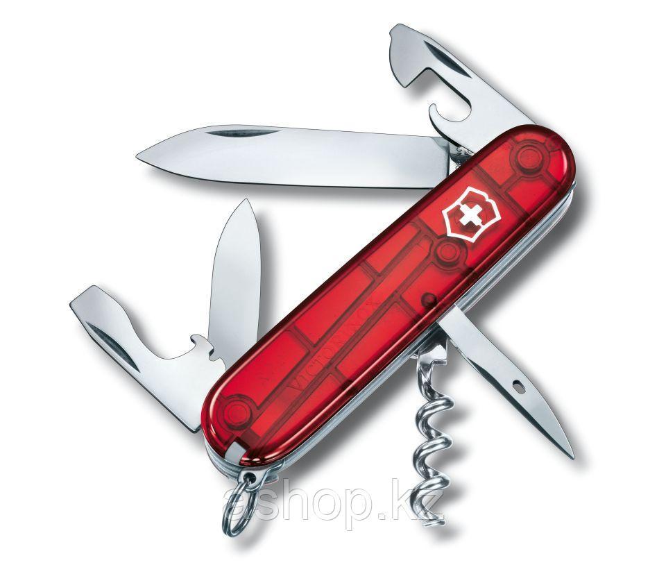 Нож складной офицерский Victorinox Spartan, Кол-во функций: 12 в 1, Цвет: Красный (прозрачный), (1.3603.T)