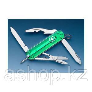 Нож складной карманный Victorinox Manager, Кол-во функций: 10 в 1, Цвет: Зелёный (полупрозрачный), (0.6365Т4)