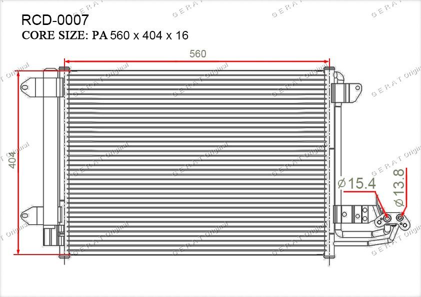 Радиатор кондиционера Gerat OEM1K0820411D