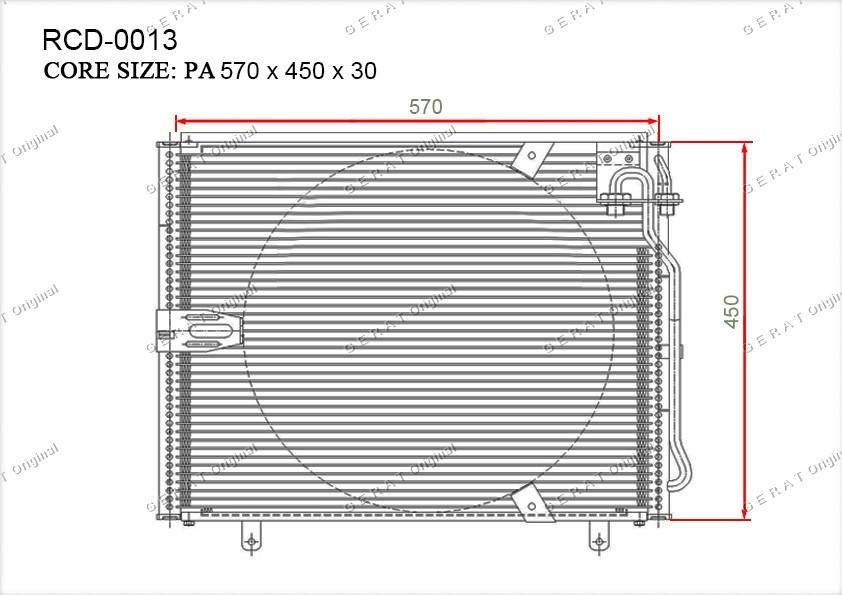 Радиатор кондиционера Gerat OEM64536965952
