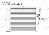 Радиатор кондиционера Gerat OEM64538378438