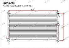 Радиатор кондиционера Gerat OEM80110SV1A11