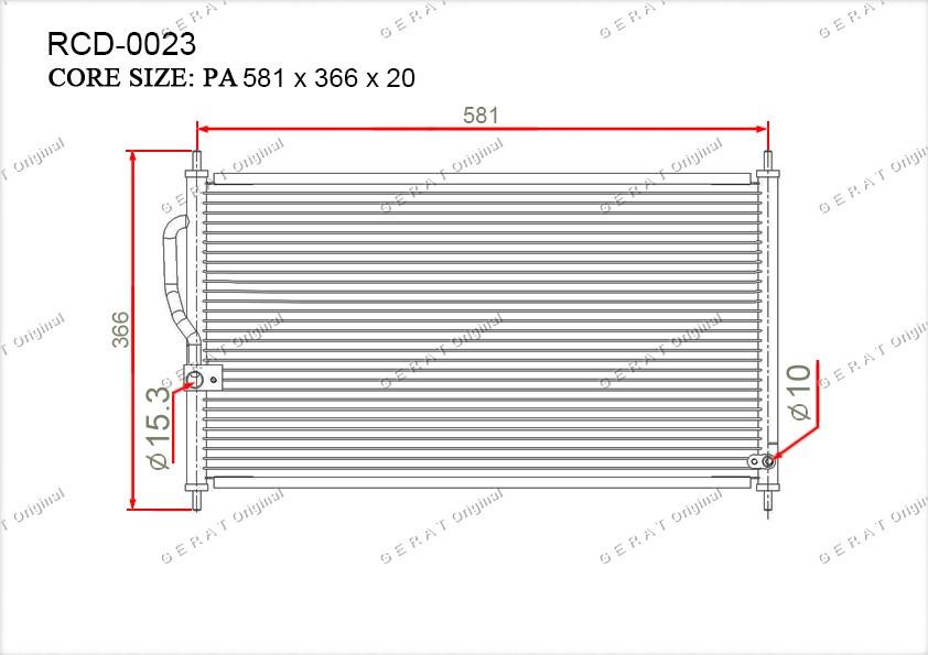 Радиатор кондиционера Gerat OEM80110S10003