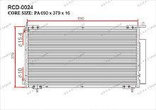 Радиатор кондиционера Gerat OEM80101SCAA01