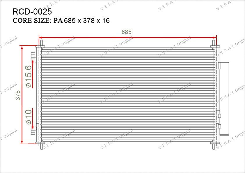 Радиатор кондиционера Gerat OEM80110SWAA01