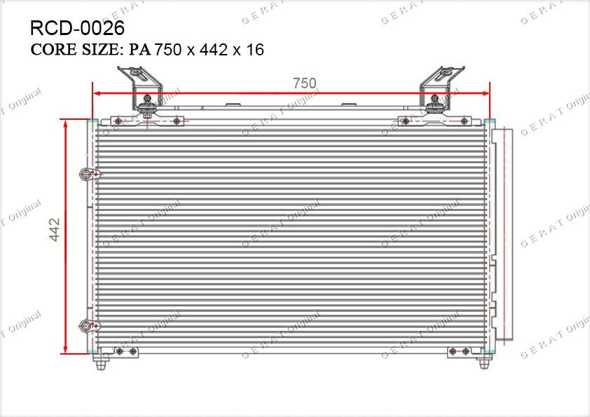 Радиатор кондиционера Gerat OEM80100S0XA01