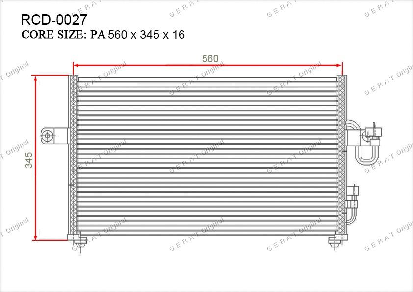 Радиатор кондиционера Gerat OEM9760622000