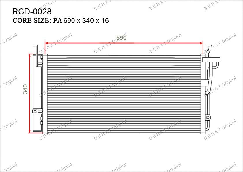 Радиатор кондиционера Gerat OEM9760638003