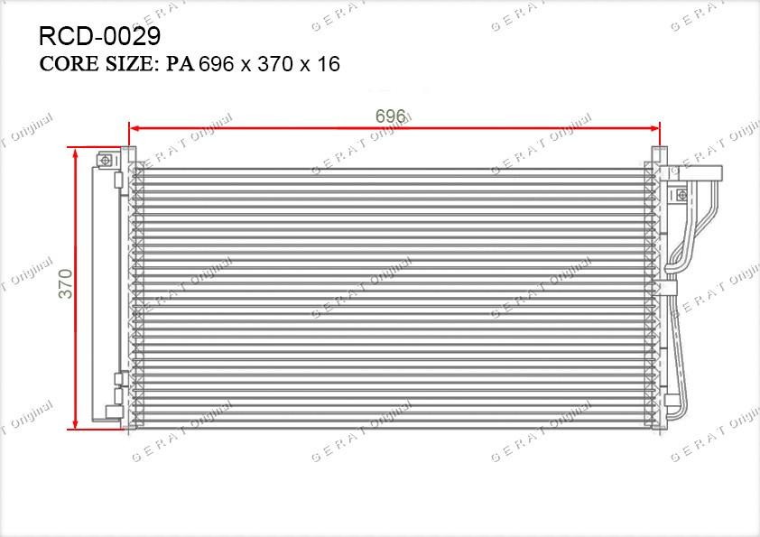 Радиатор кондиционера Gerat OEM976063K160
