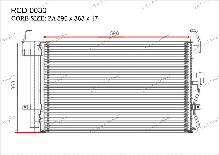 Радиатор кондиционера Gerat OEM976062D000