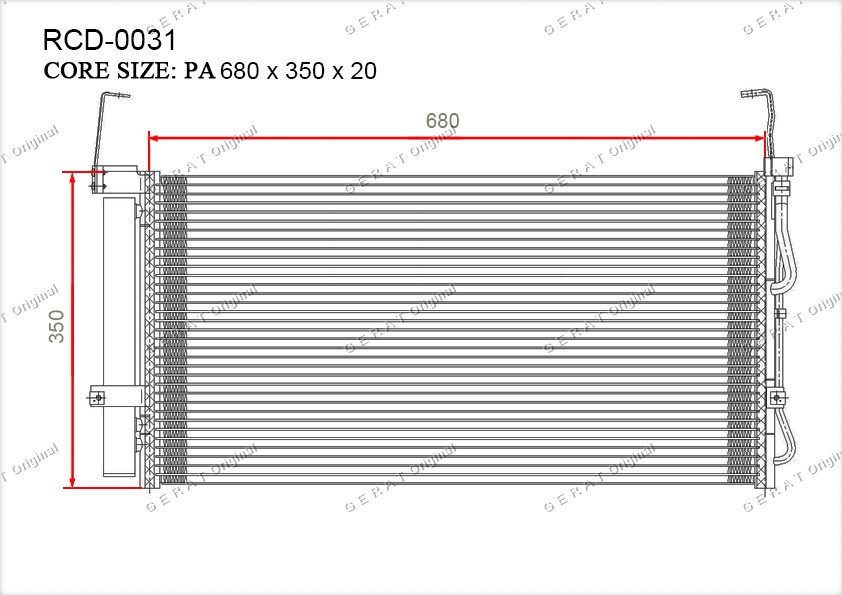 Радиатор кондиционера Gerat OEM9760626000