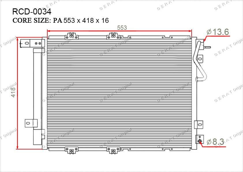 Радиатор кондиционера Gerat OEM976063E600