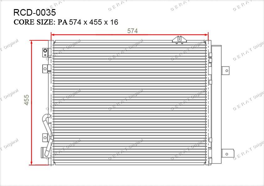 Радиатор кондиционера Gerat OEM976063E930