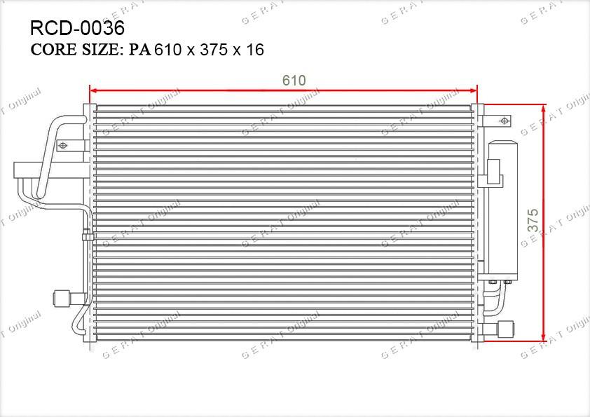 Радиатор кондиционера Gerat OEM976062E000