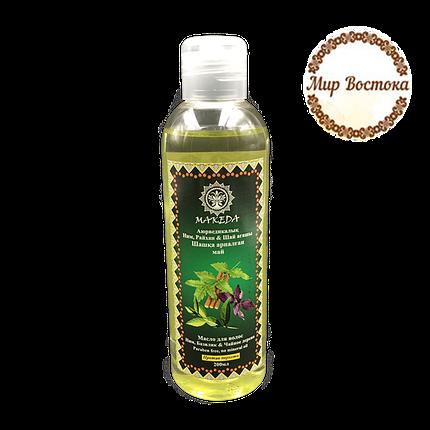 Масло для волос против перхоти Ним, Базилик и Чайное дерево Makeda (200 мл), фото 2
