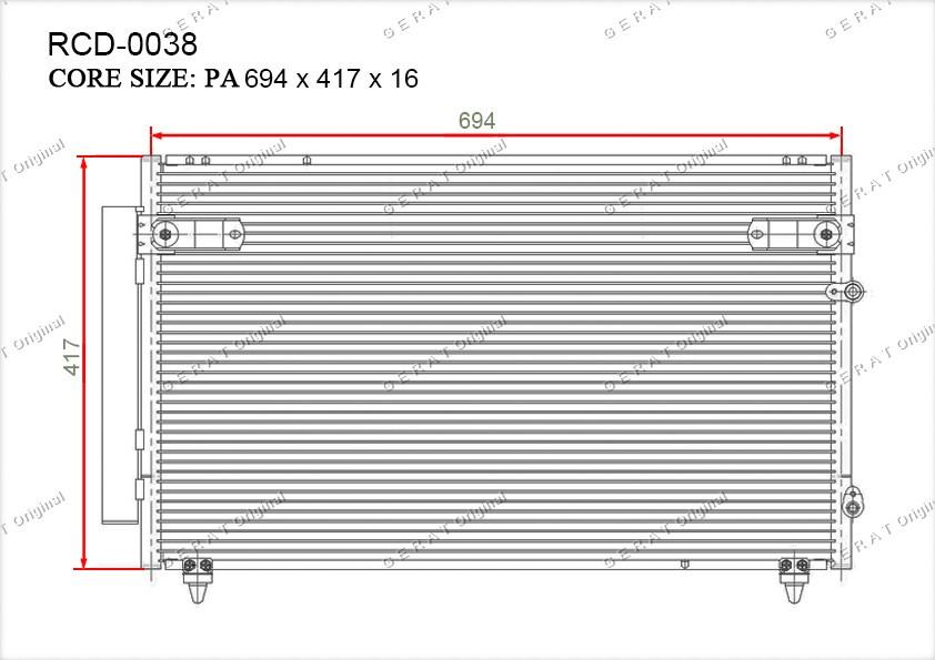 Радиатор кондиционера Gerat OEM8846030780