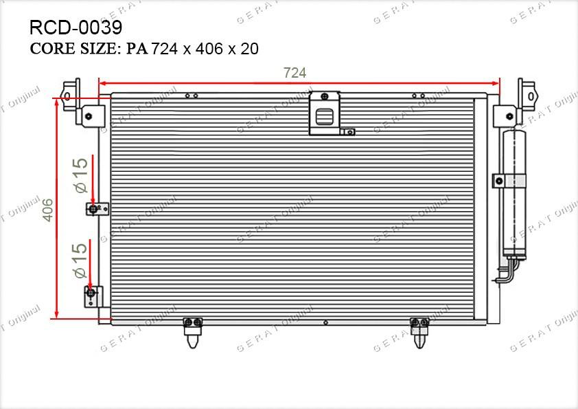 Радиатор кондиционера Gerat OEM8845048010