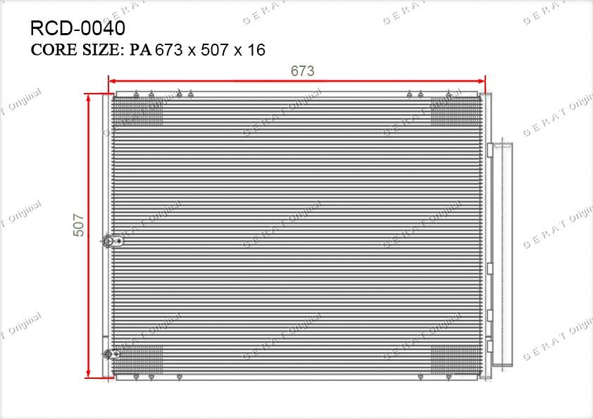 Радиатор кондиционера Gerat OEM884600E010