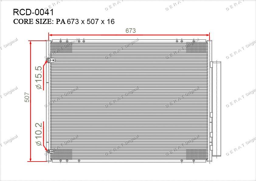 Радиатор кондиционера Gerat OEM8846001020
