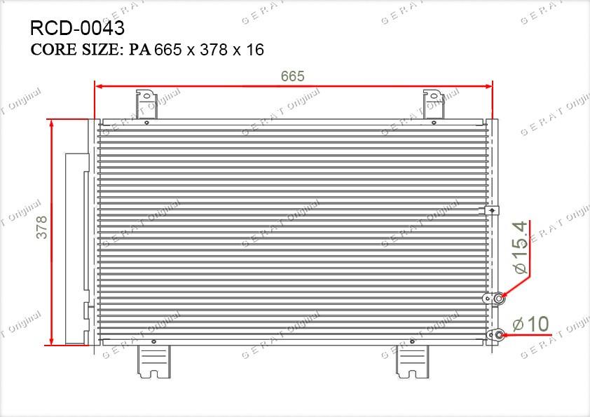 Радиатор кондиционера Gerat OEM8846030871