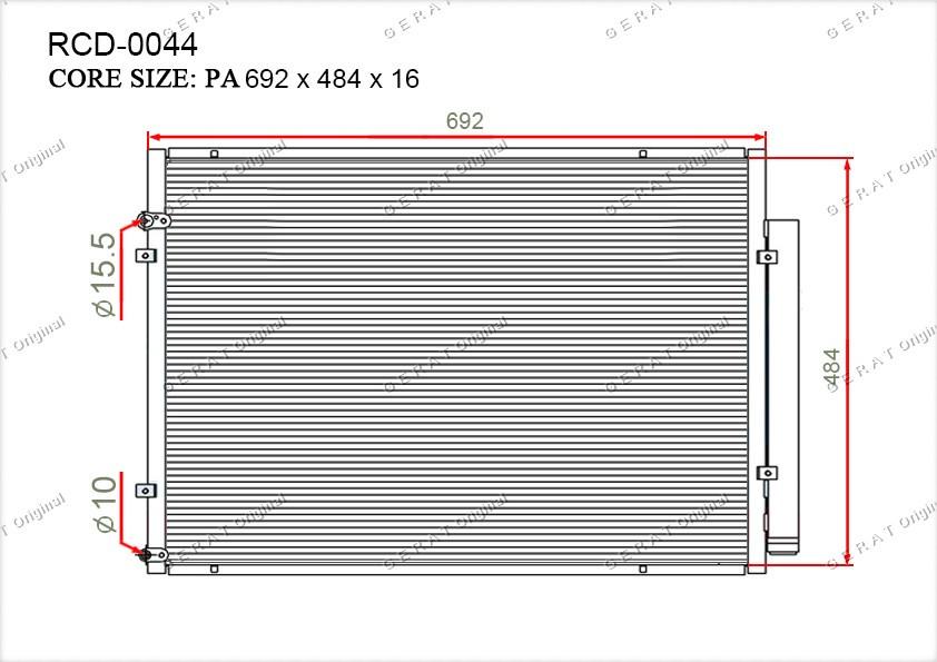 Радиатор кондиционера Gerat OEM8846048060