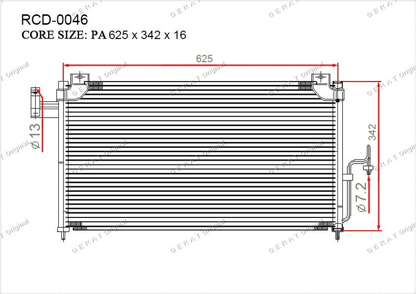 Радиатор кондиционера Gerat OEMB25F61480