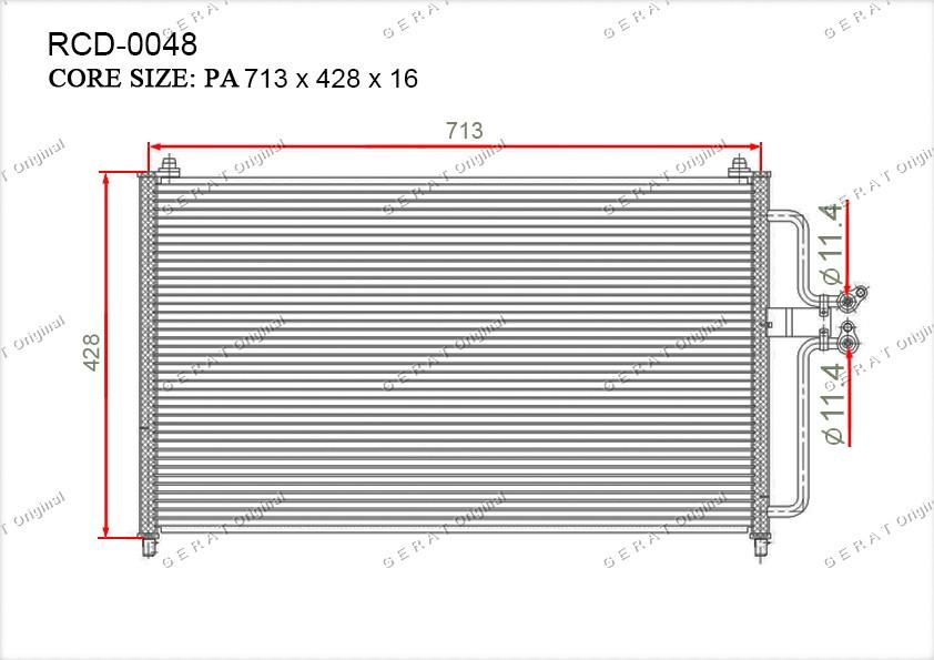 Радиатор кондиционера Gerat OEM4419063