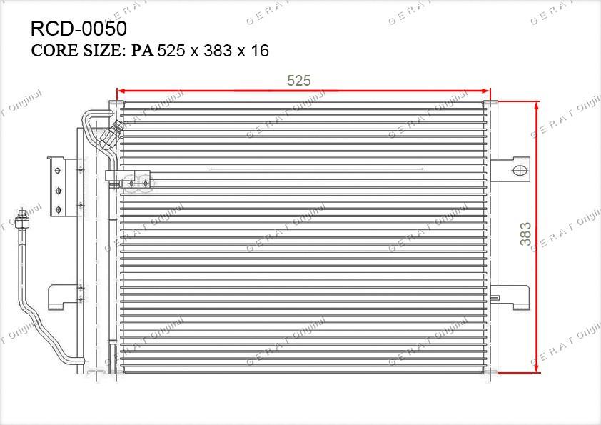 Радиатор кондиционера Gerat OEM1685000354