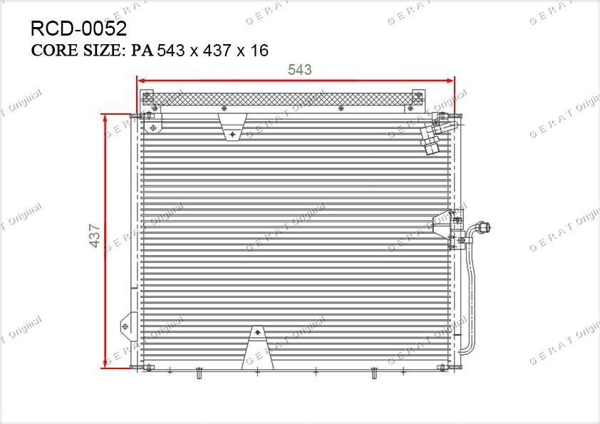 Радиатор кондиционера Gerat OEM1248301370