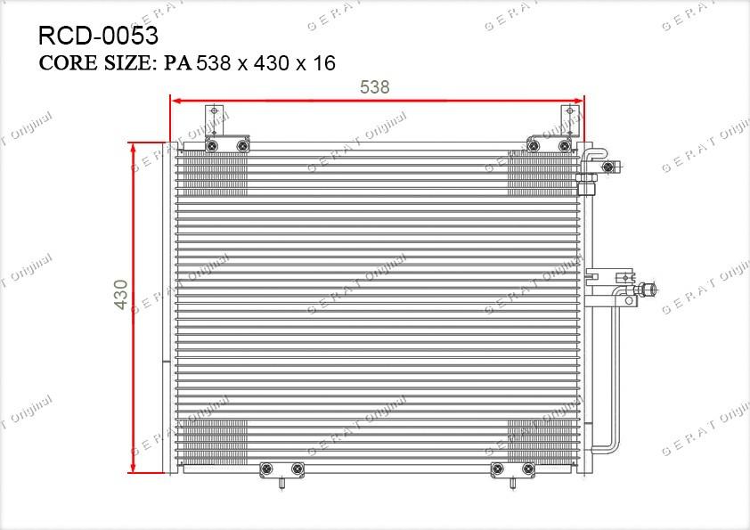 Радиатор кондиционера Gerat OEM1248300270