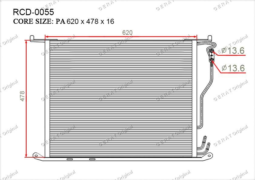 Радиатор кондиционера Gerat OEM2205000054