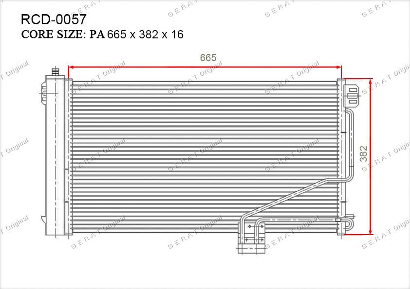 Радиатор кондиционера Gerat OEM1715000354