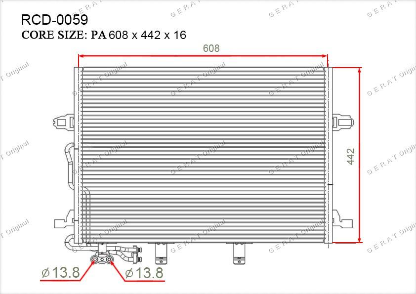 Радиатор кондиционера Gerat OEMA2115000154