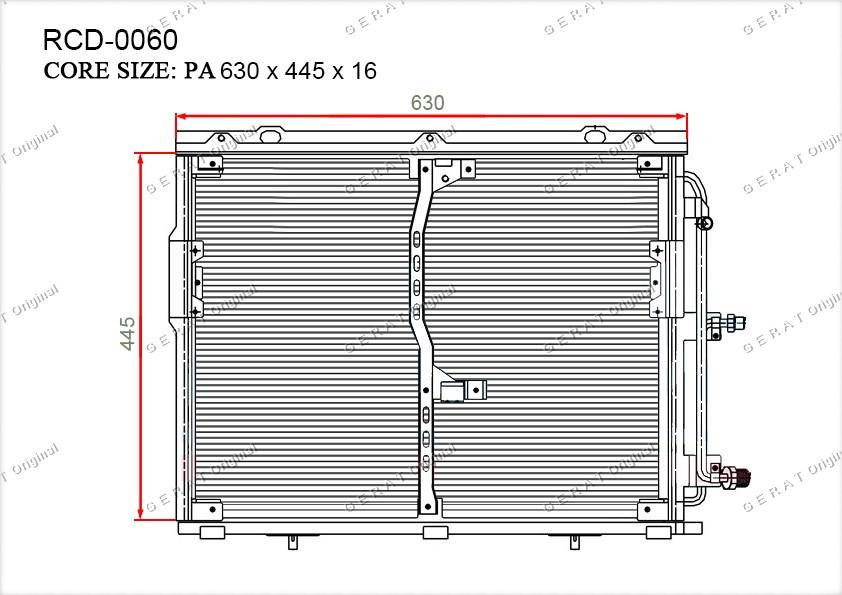 Радиатор кондиционера Gerat OEMA1408300070