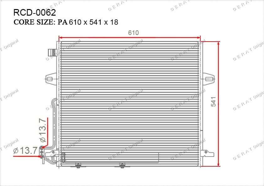 Радиатор кондиционера Gerat OEM2515000054