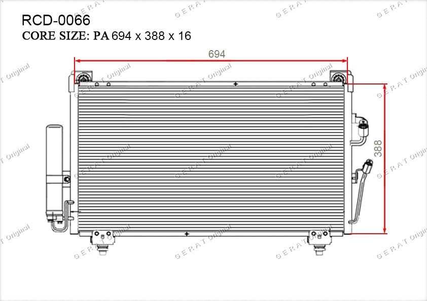 Радиатор кондиционера Gerat OEMMN124248