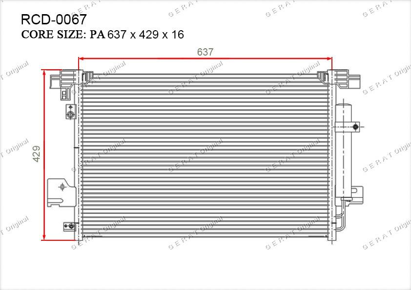 Радиатор кондиционера Gerat OEM6455FA