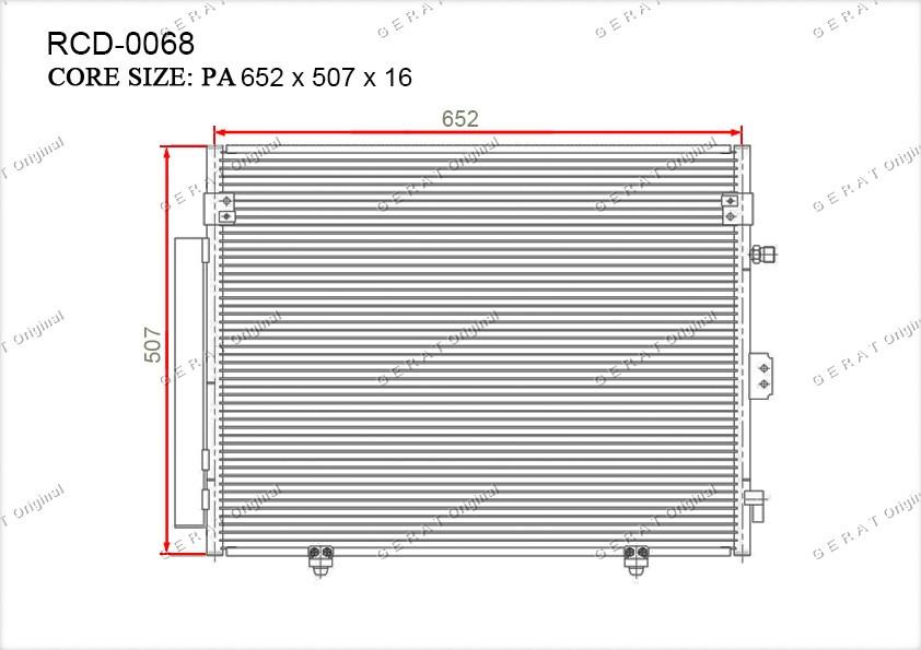 Радиатор кондиционера Gerat OEMMN123332