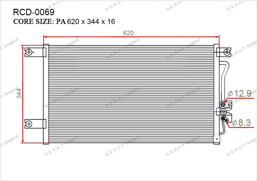 Радиатор кондиционера Gerat OEMMR360415