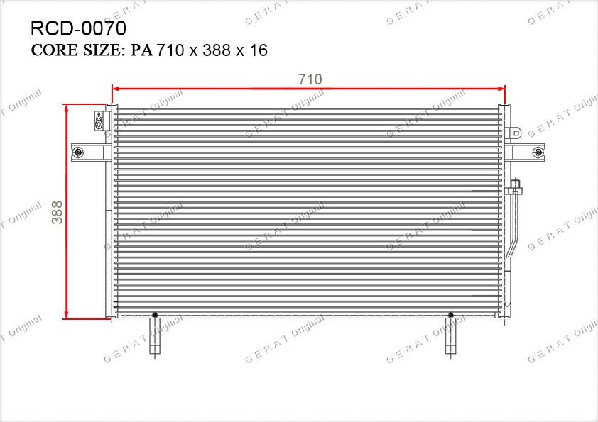 Радиатор кондиционера Gerat OEM921100W002
