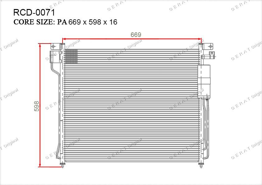 Радиатор кондиционера Gerat OEM92110EA500