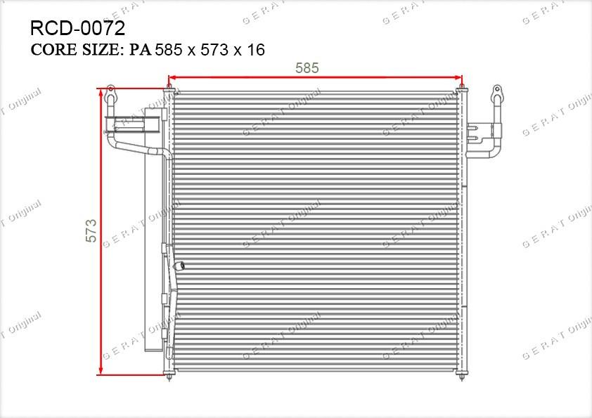 Радиатор кондиционера Gerat OEM92100ZC10A